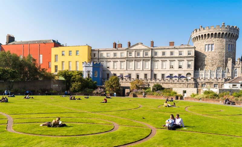 Dublin Castle and gardens